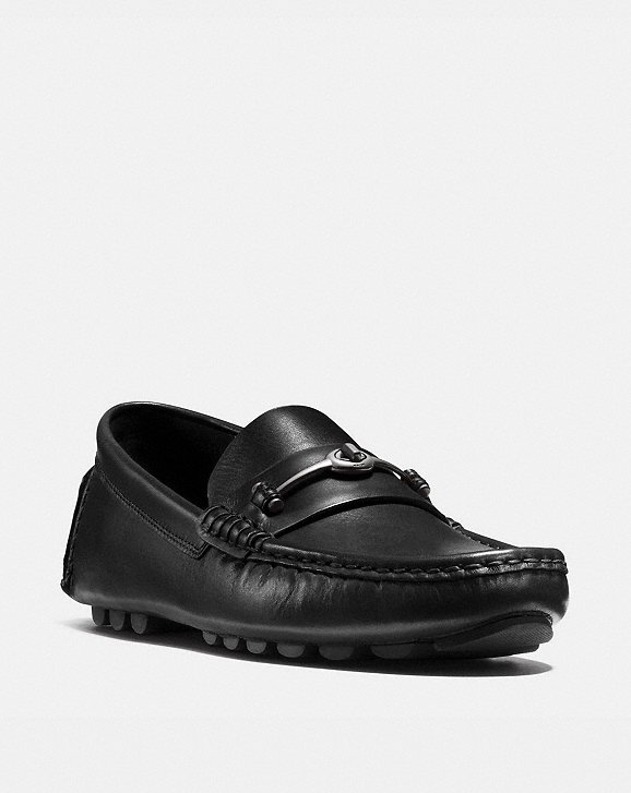 Coach Crosby Turnlock Driver Shoes - Black Discount Low Shipping ZJLeu