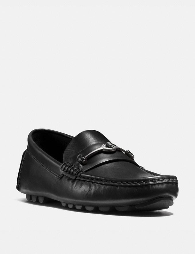 Coach Crosby Turnlock Driver Black Men Shoes