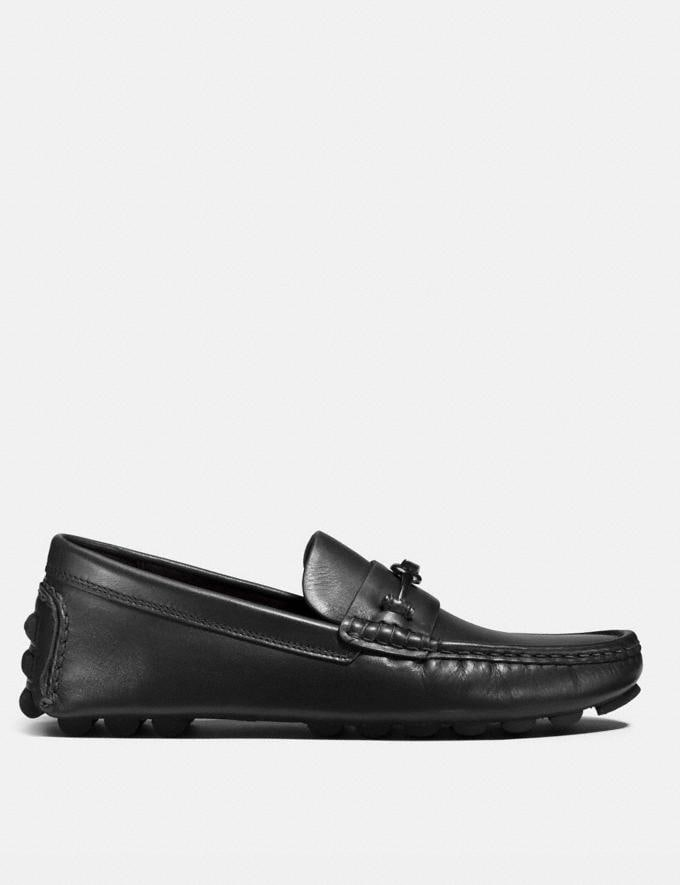 Coach Crosby Turnlock Driver Black Men Shoes Alternate View 1