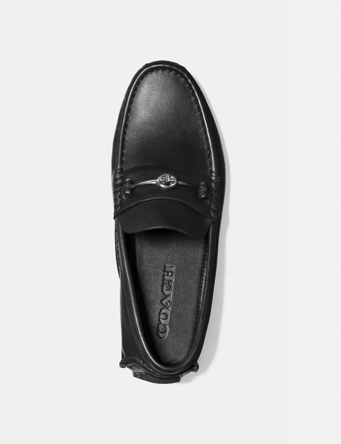 Coach Crosby Turnlock Driver Black Men Shoes Alternate View 2