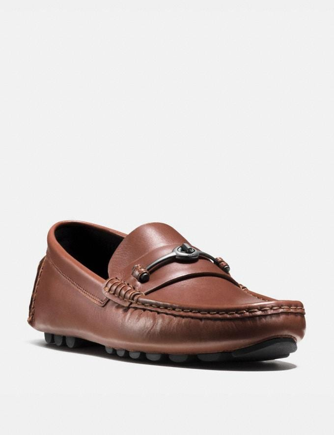 Coach Crosby Turnlock Driver Dark Saddle Men Shoes