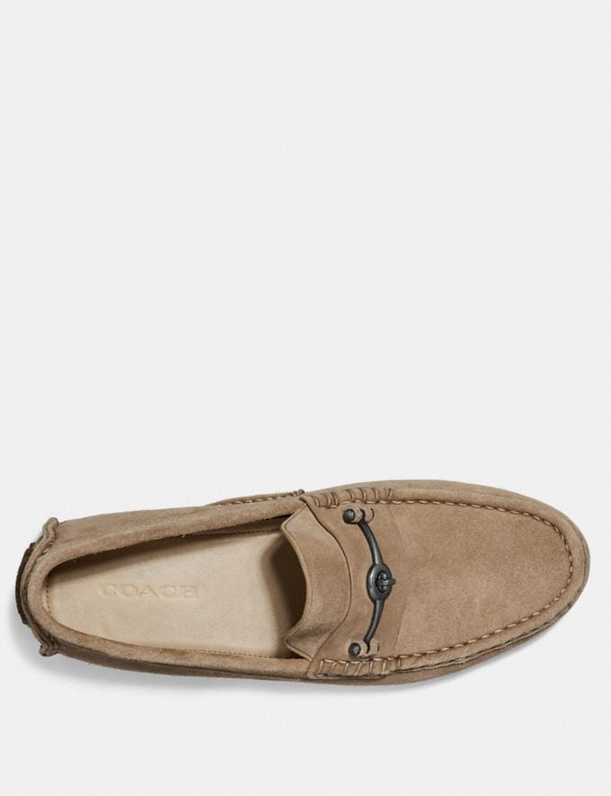 Coach Crosby Turnlock Driver Oat Brown Men Shoes Casual Alternate View 2