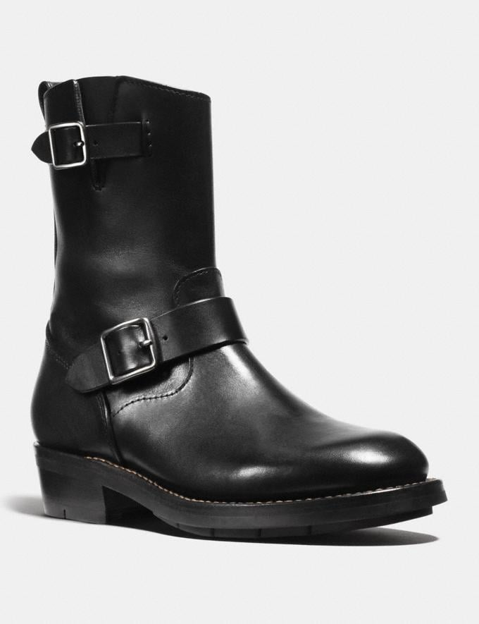 Coach Moto Boot Black Staff Sale