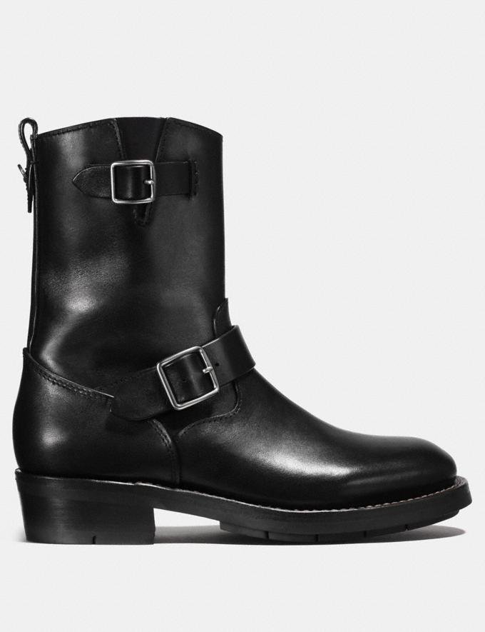 Coach Moto Boot Black Staff Sale Alternate View 1