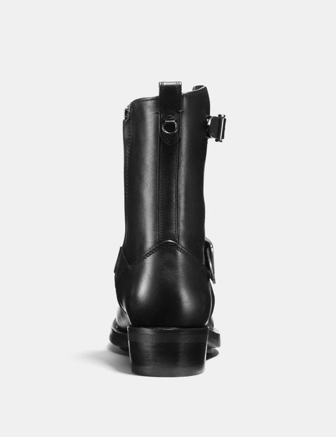 Coach Moto Boot Black Staff Sale Alternate View 2