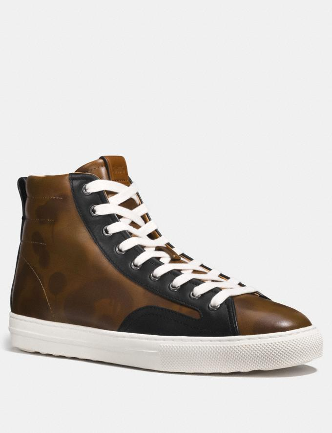 Coach C227 High Top With Wild Beast Saddle Wild Beast/Black Men Shoes Trainers