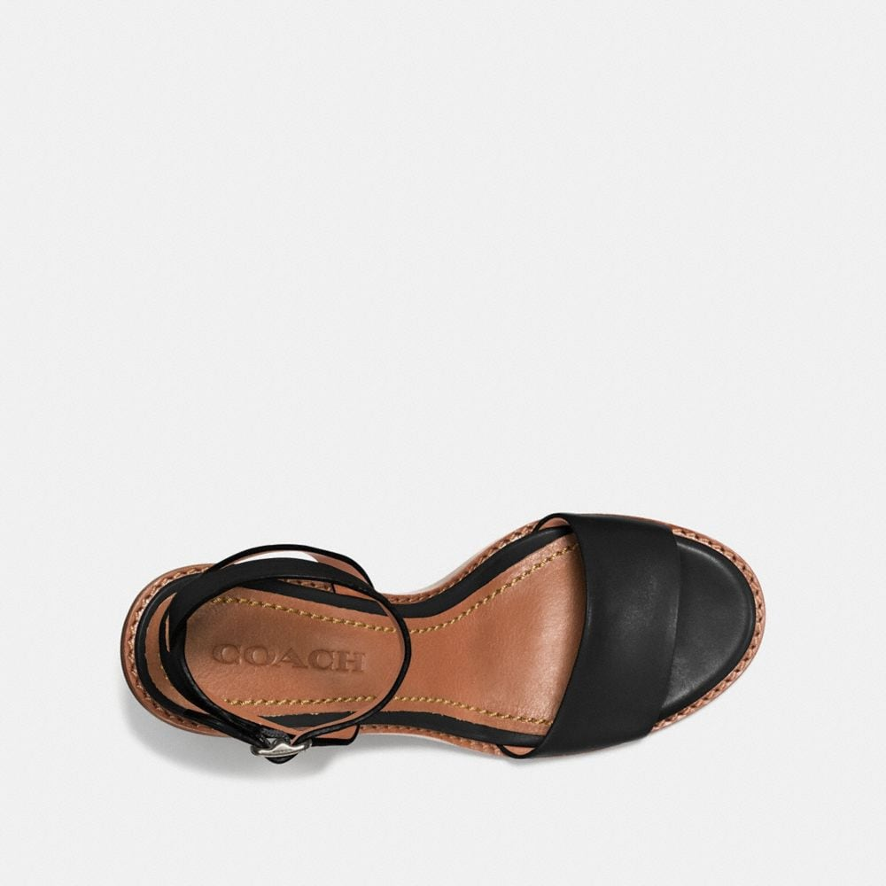 Coach Mid Heel Sandal With Tea Rose Alternate View 2