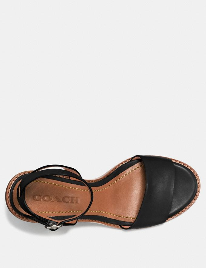 Coach Mid Heel Sandal With Tea Rose Black  Alternate View 2