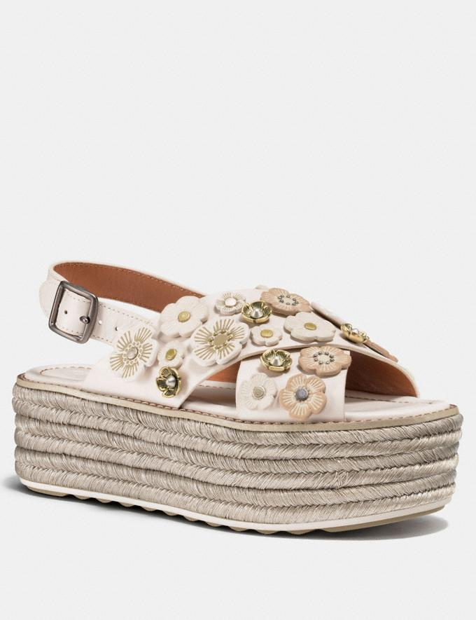 Coach Espadrille Sandal With Tea Rose Chalk