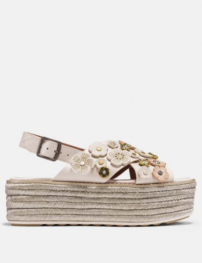 Coach Espadrille Sandal With Tea Rose Chalk  Alternate View 1