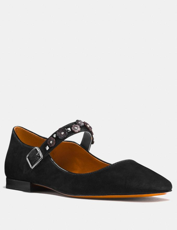 Coach Mary Jane With Tea Rose Black CYBER MONDAY SALE Women's Sale Shoes