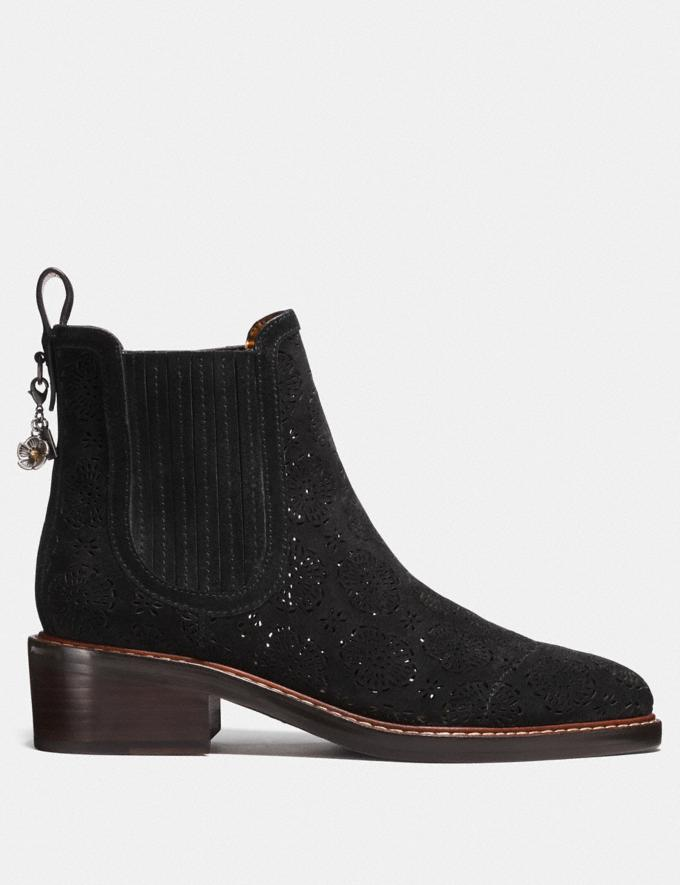 Coach Bowery Chelsea Boot With Cut Out Tea Rose Black CYBER MONDAY SALE Women's Sale Shoes Alternate View 1