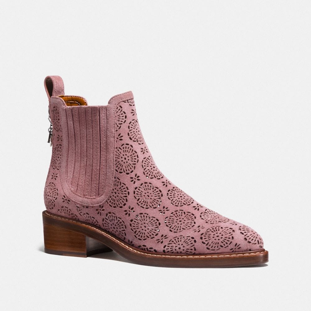 COACH BOWERY CHELSEA BOOT WITH CUT OUT TEA ROSE - WOMEN'S