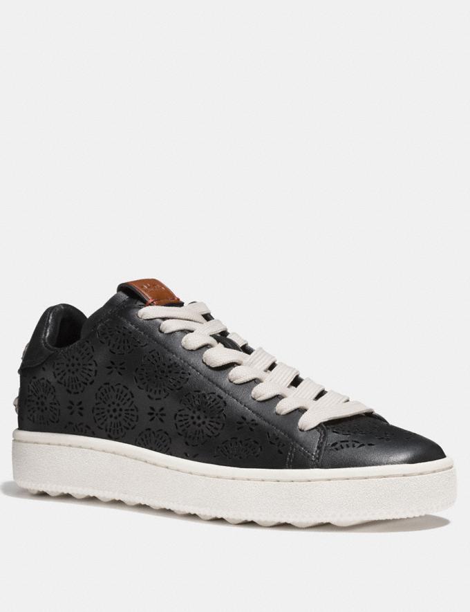 Coach C101 With Cut Out Tea Rose Black Friends & Family Sale Women's Shoes