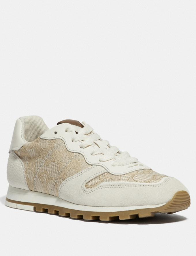 Coach C125 Runner Ivory/Chalk New Featured Online Exclusives