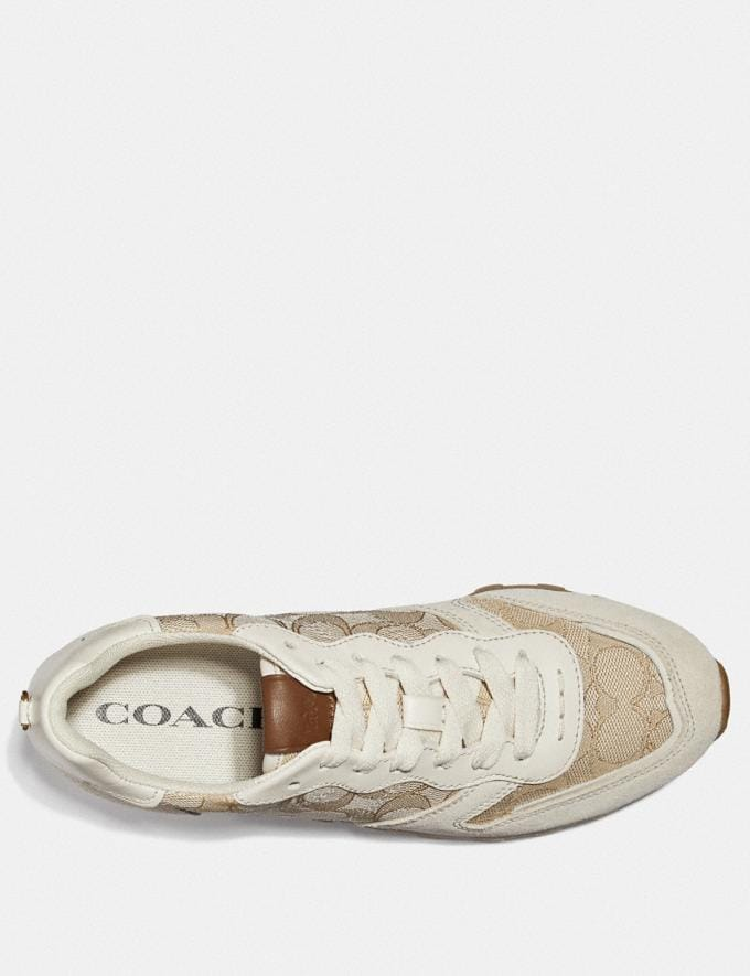 Coach C125 Runner Ivory/Chalk Women Shoes Sneakers Alternate View 2