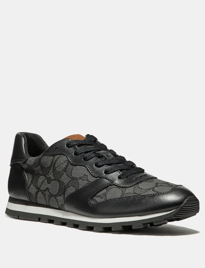 Coach C125 Runner Black Smoke/Black New Featured Online Exclusives