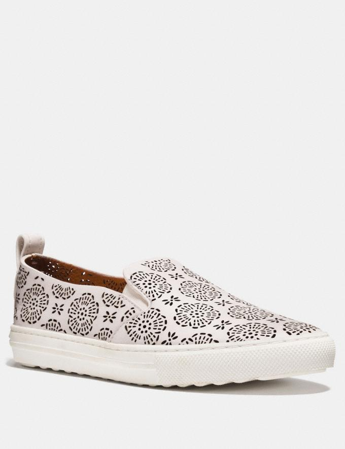 Coach C115 With Cut Out Tea Rose Chalk Women Shoes Trainers