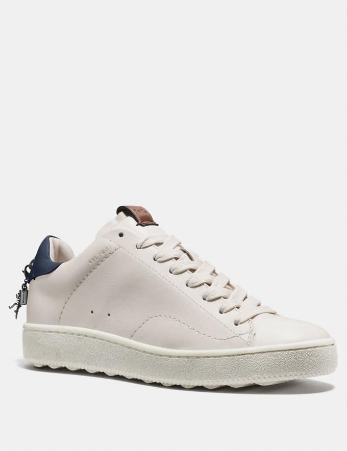 Coach C101 Low Top Sneaker White/Petal Women Shoes Sneakers