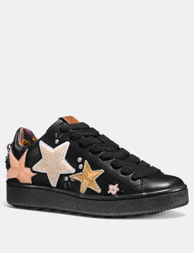 Coach C101 With Star Patches Black SALE Women's Sale Shoes