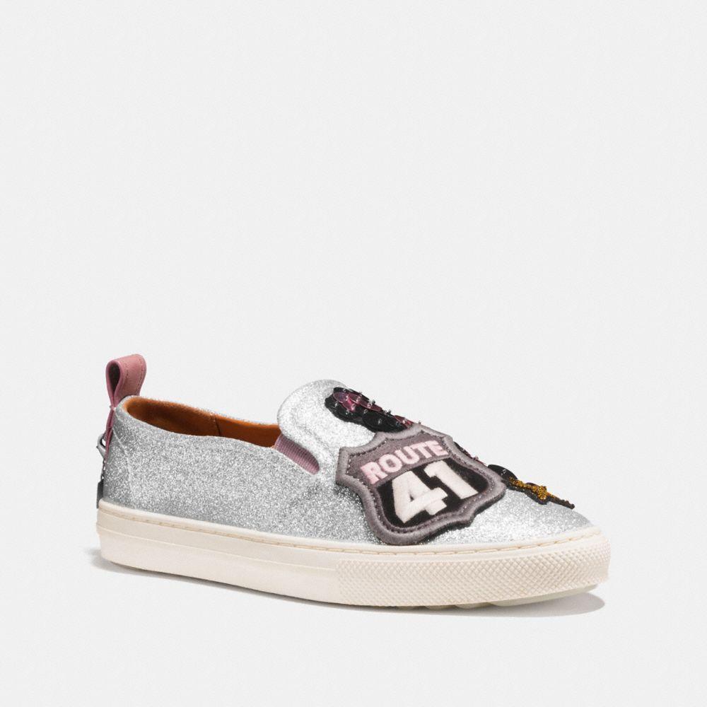 COACH C115 Cherry Glitter Patch Sneakers