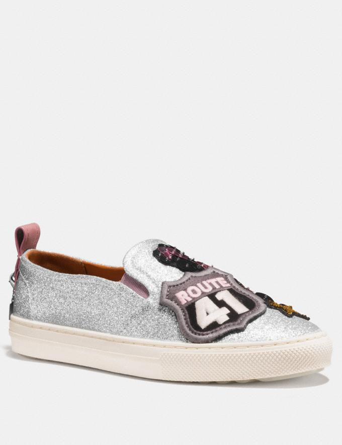 Coach C115 With Cherry Patches Silver Friends & Family Sale Women's Shoes