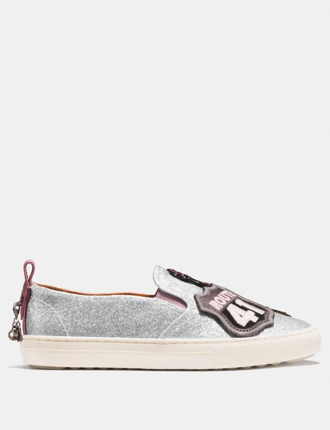 Coach C115 With Cherry Patches Silver Friends & Family Sale Women's Shoes Alternate View 1