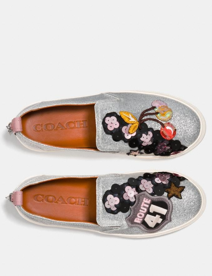 Coach C115 With Cherry Patches Silver Friends & Family Sale Women's Shoes Alternate View 2