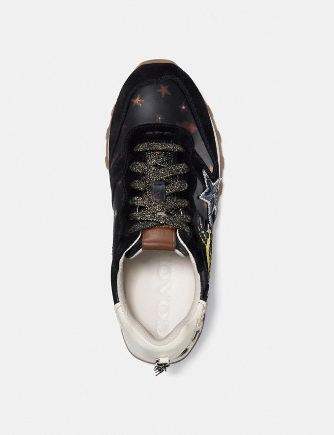 Coach C125 Runner With Rexy Patches Black/Ivory Friends & Family Sale Women's Shoes Alternate View 1
