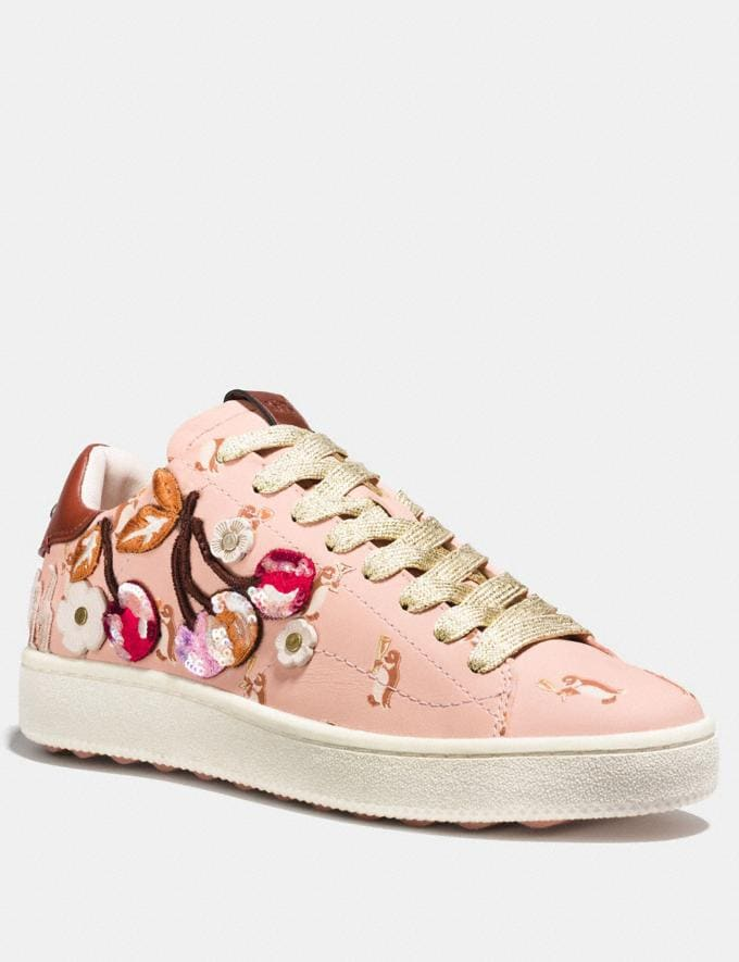 Coach C101 With Cherry Patches Light Pink SALE Women's Sale