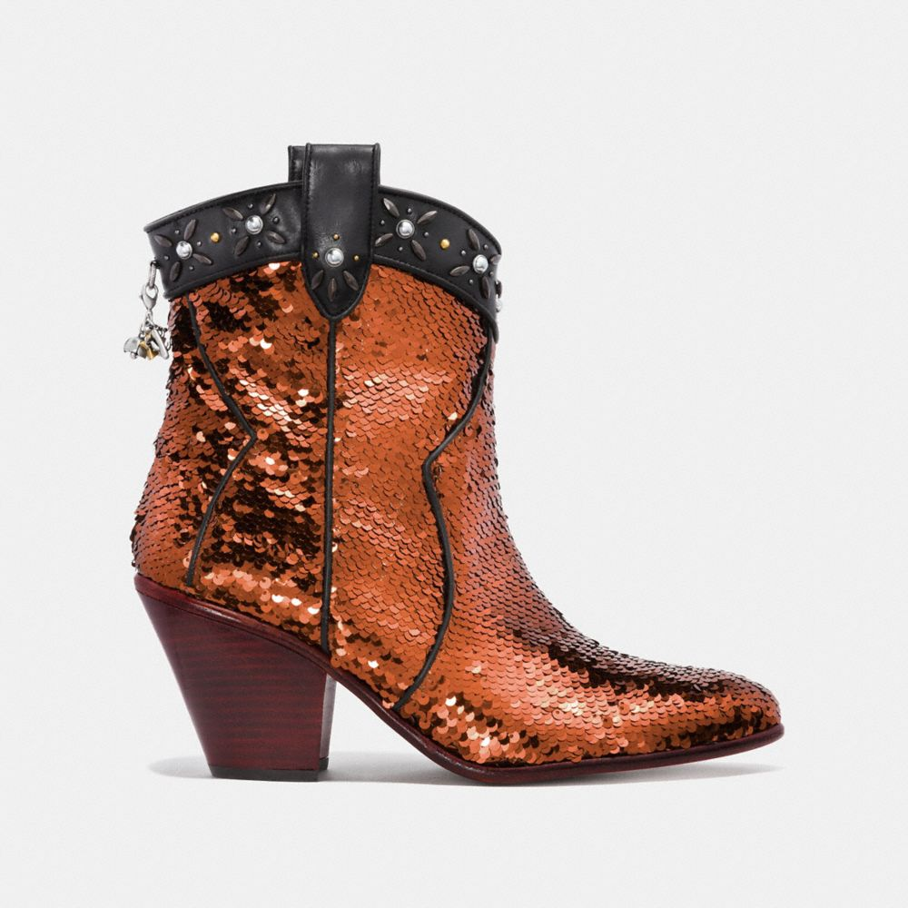 Coach Western Bootie With Sequins Alternate View 1