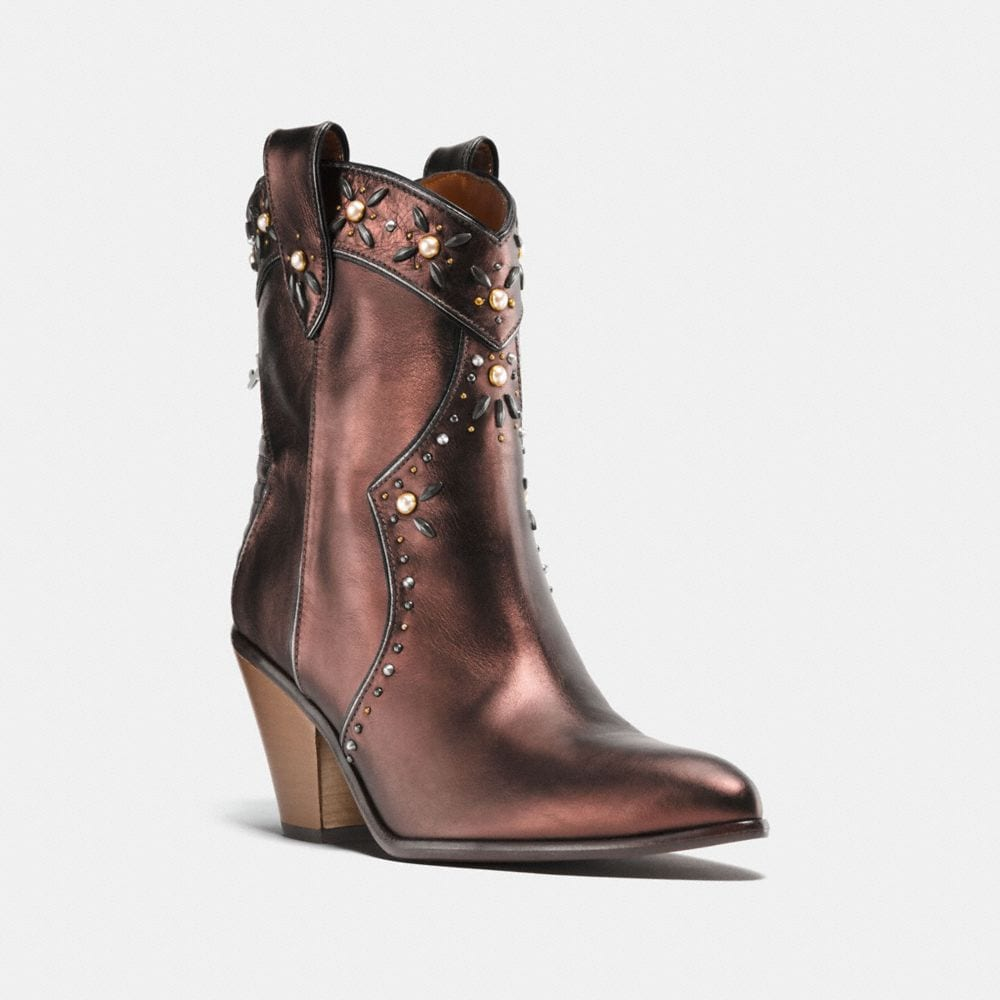 Coach Western Bootie With Prairie Rivets