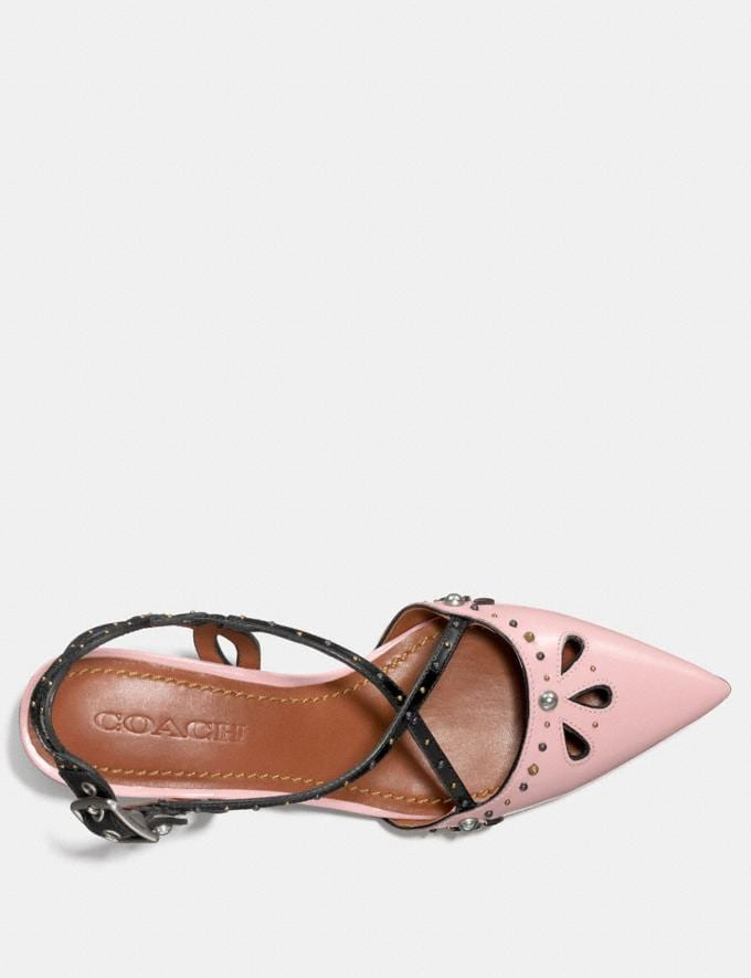 Coach Flat With Prairie Rivets Pink/Black  Alternate View 2
