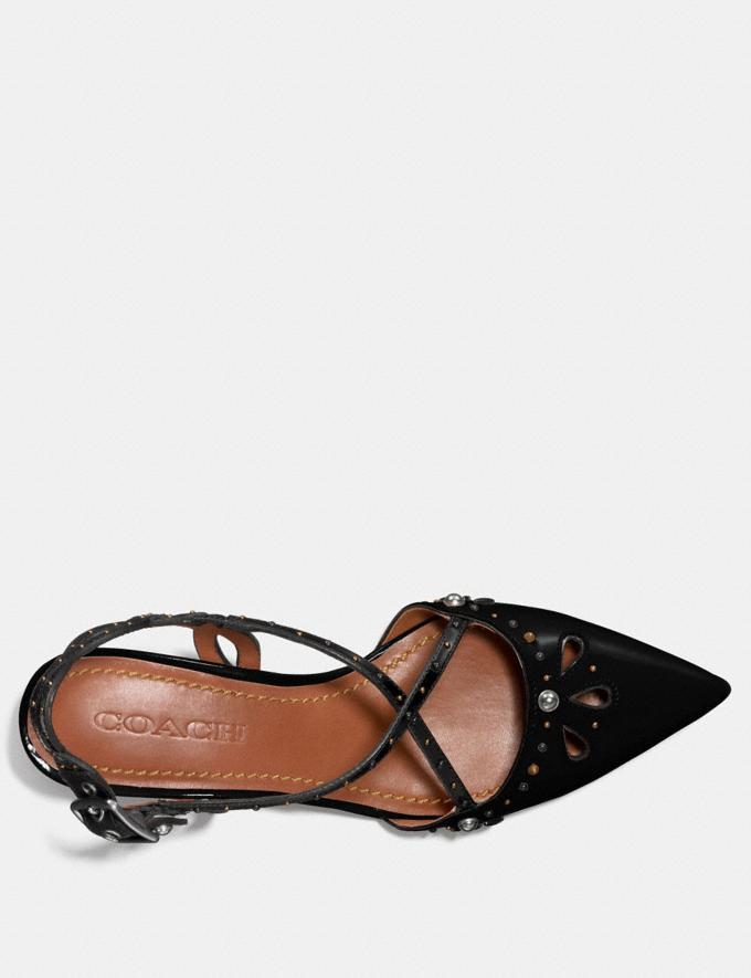 Coach Flat With Prairie Rivets Black/Black Women Shoes Flats Alternate View 2
