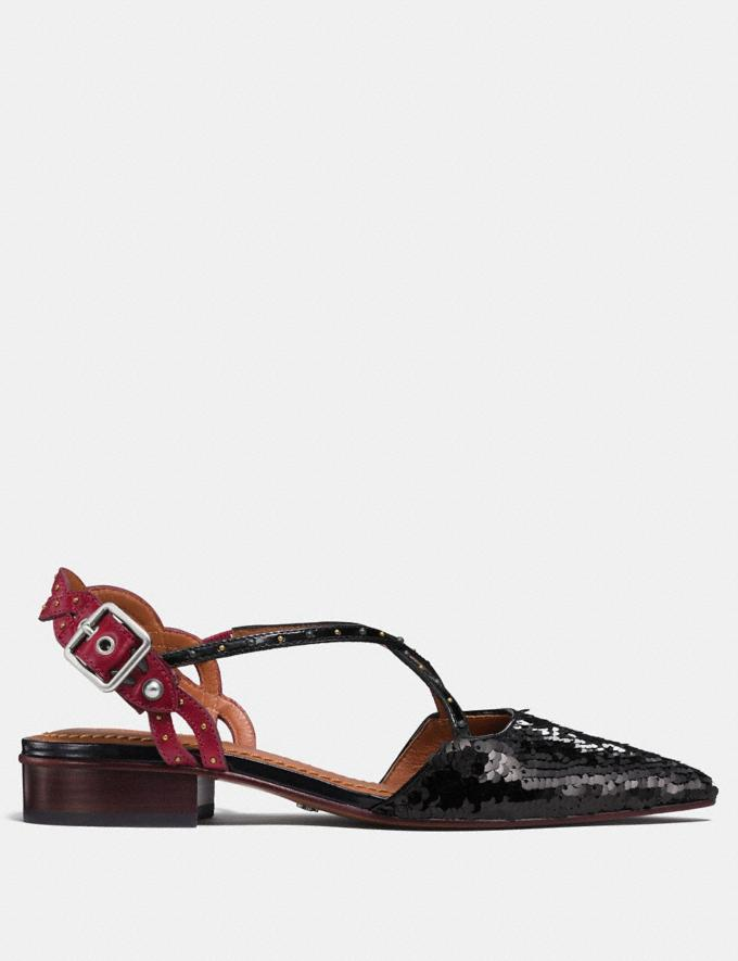 Coach Flat With Sequins Black/Wine  Alternate View 1