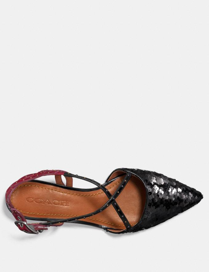 Coach Flat With Sequins Black/Wine  Alternate View 2