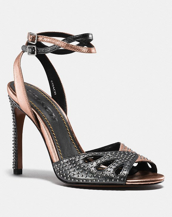 Coach Heel Sandal With Prairie Rivets Coach p2uKyz