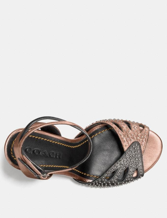 Coach Heel Sandal With Prairie Rivets Rosegold  Alternate View 2