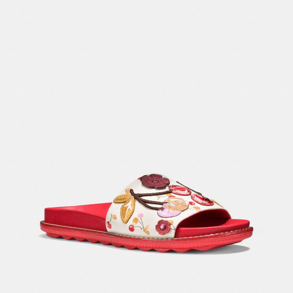Coach Sport Slide With Cherry Patches