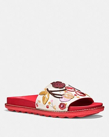 SPORT SLIDE WITH CHERRY PATCHES