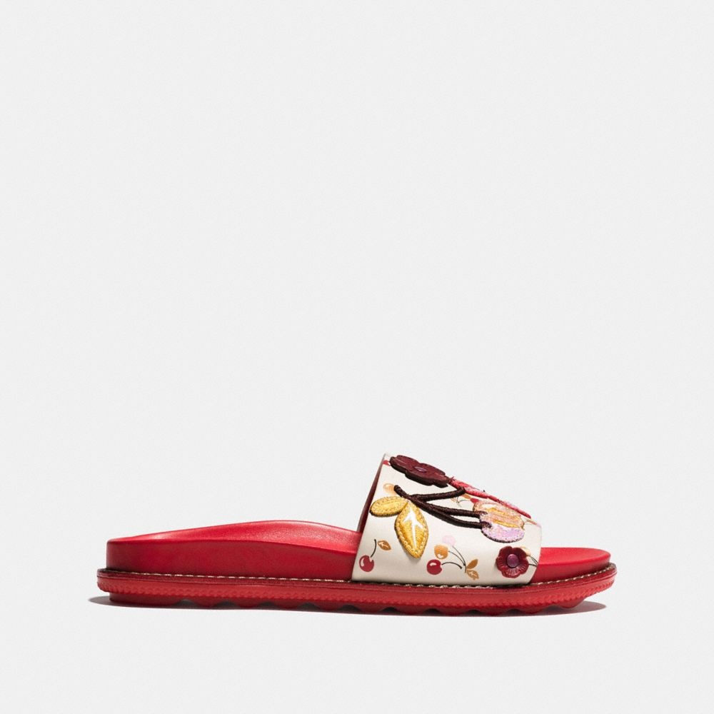 Coach Sport Slide With Cherry Patches Alternate View 1