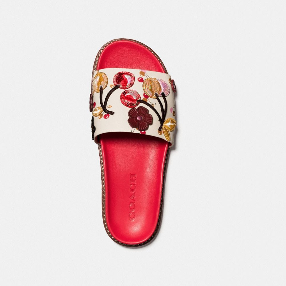 Coach Sport Slide With Cherry Patches Alternate View 2