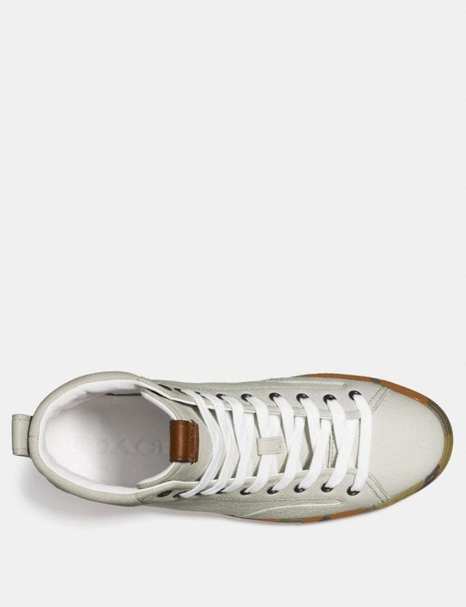 Coach C227 High Top White Men Shoes Trainers Alternate View 2