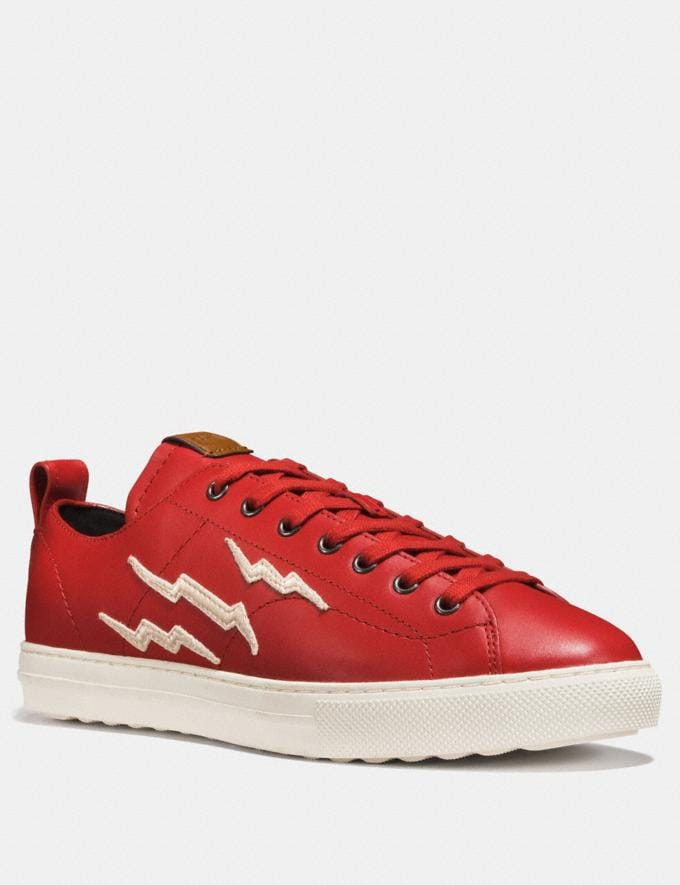 Coach C121 With Lightning Patch Red