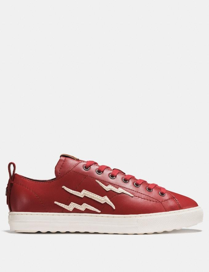 Coach C121 With Lightning Patch Red  Alternate View 1