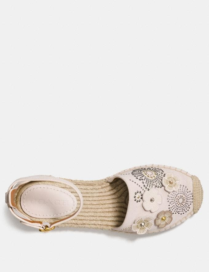 Coach Ankle Strap Astor Espadrille With Tea Rose Rivets Chalk CYBER MONDAY SALE Women's Sale 40 Percent Off Alternate View 2