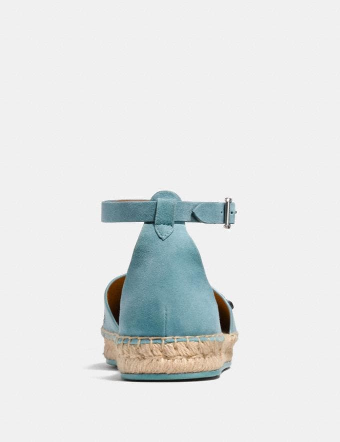Coach Ankle Strap Astor Espadrille With Tea Rose Rivets Marine  Alternate View 3