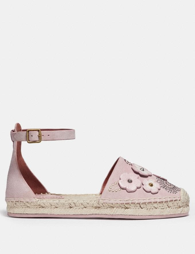 Coach Ankle Strap Astor Espadrille With Tea Rose Rivets Peony CYBER MONDAY SALE Women's Sale 40 Percent Off Alternate View 1
