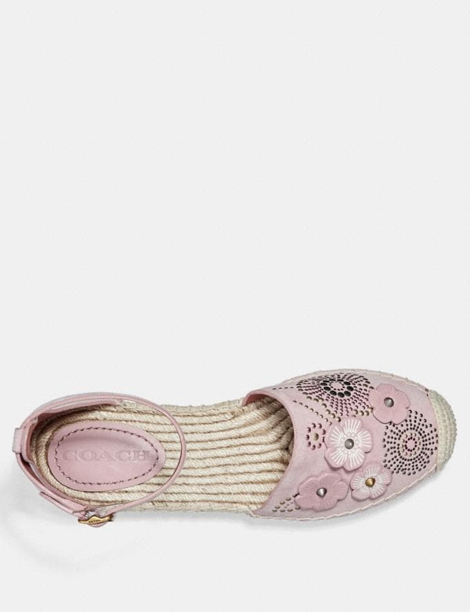 Coach Ankle Strap Astor Espadrille With Tea Rose Rivets Peony CYBER MONDAY SALE Women's Sale 40 Percent Off Alternate View 2