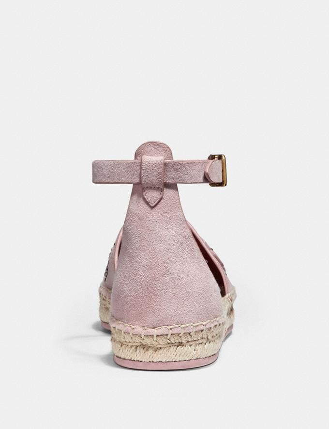 Coach Ankle Strap Astor Espadrille With Tea Rose Rivets Peony CYBER MONDAY SALE Women's Sale 40 Percent Off Alternate View 3